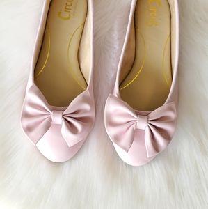 CIRCUS by Sam Edelman pink ballerina bow flats